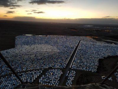 power grid of solar panels